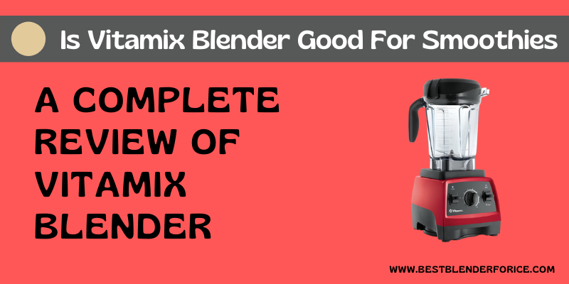 Is Vitamix Blender Good For Smoothies