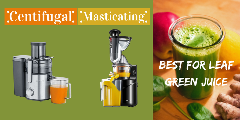 Masticating Vs Centrifugal What is the Best Leaf juicer Machine