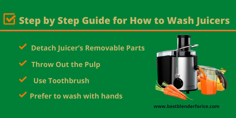 step by step guide how to clean juicer